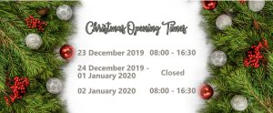 Christmas opening 2019