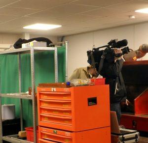 BBC camera man setting up shots
