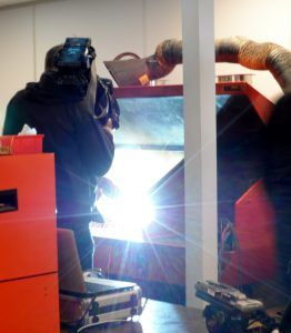 BBC filming weld tests