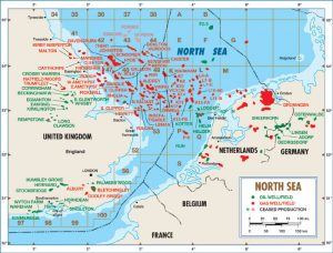 North Sea Installations Map
