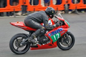 Rob in action at the TTXGP, 2009