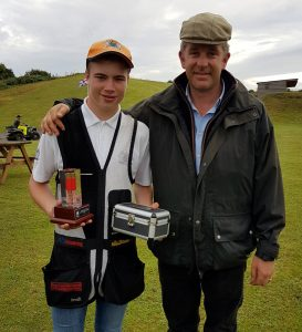 Charlie with Richard Faulds MBE
